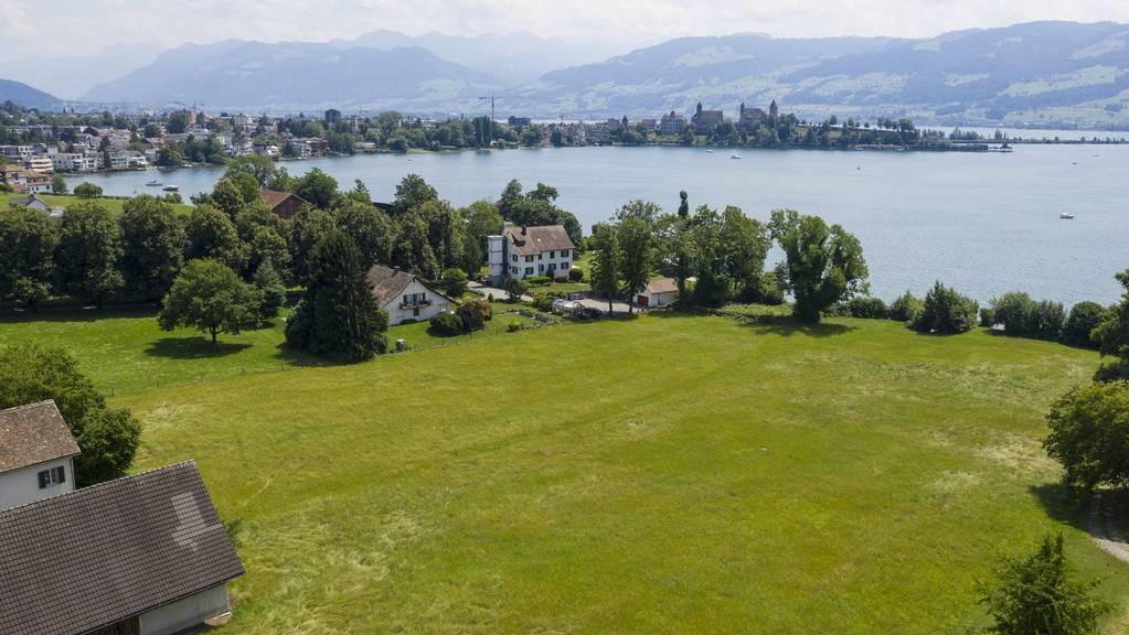 Auf diesem Grundstück wird Roger Federer seine neue Villa bauen.