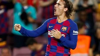 Antoine Griezmann jubelt jetzt im Tenü des FC Barcelona