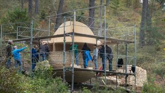Der Lionsclub Balsthal baut die von einem Unwetter zerstörte Skulptur Nummer 20 komplett neu auf.