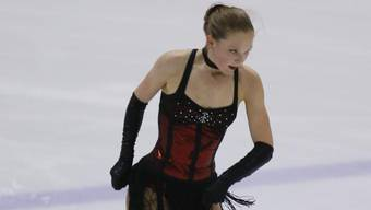 Eiskunstläuferin Claire DePorter am Pilatus Cup.