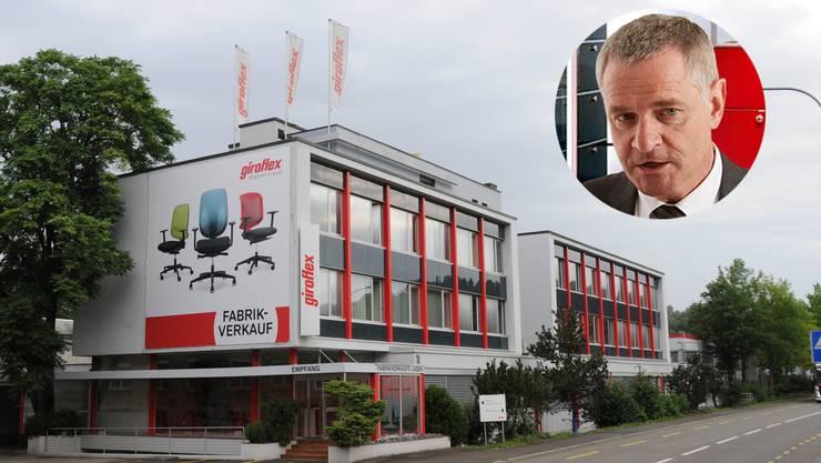 Bruno Hofer, Geschäftsleiter des Gemeindeverbands ZurzibietRegio, sorgt sich um die knapp 200 Koblenzer Arbeitsplätze der Firma Giroflex