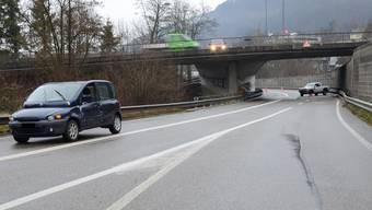 Auf der A22 ereignete sich ein Verkehrsunfall mit zwei Verletzten.