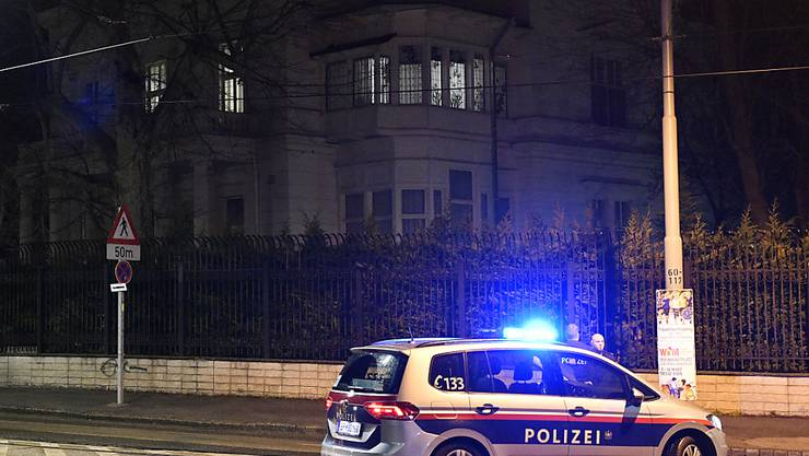 Der Tatort vor der Residenz des iranischen Botschafters in Wien.