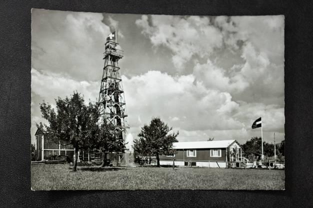 Zweite Bohrung der Thermalquelle 1955.