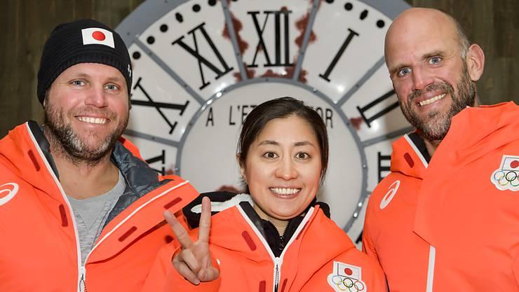 In Südkorea als Teil des Privatteams der Japanerin Tomoka Takeuchi: Philipp und Simon Schoch