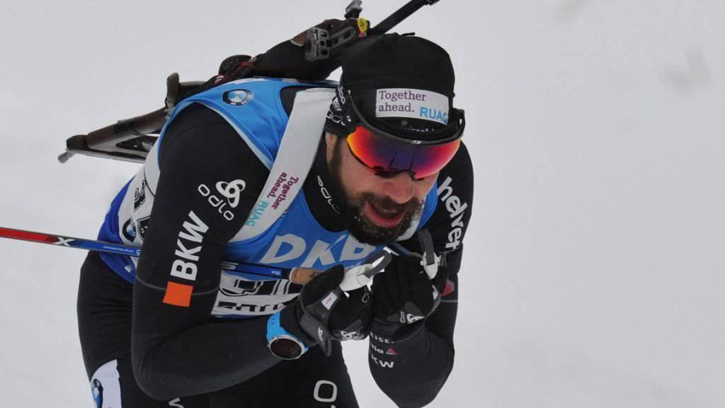 Benjamin Weger erreicht auch im Verfolgungsrennen in Oberhof ein gutes Resultat