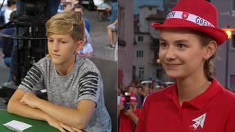 Adrian Schleiss jasste mit, Vanessa Mettler machte das Memory.