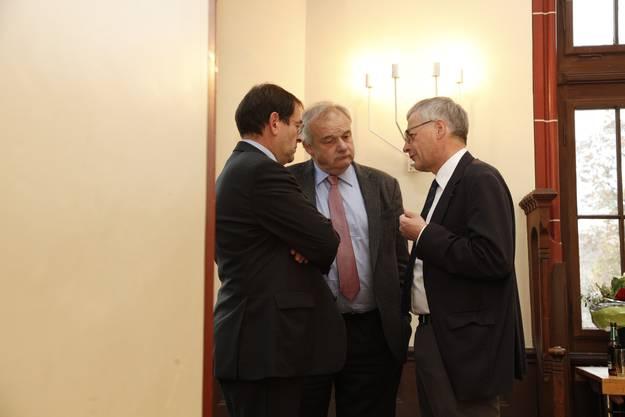 Andreas Eng, Christian Wanner und Kurt Fluri diskutieren