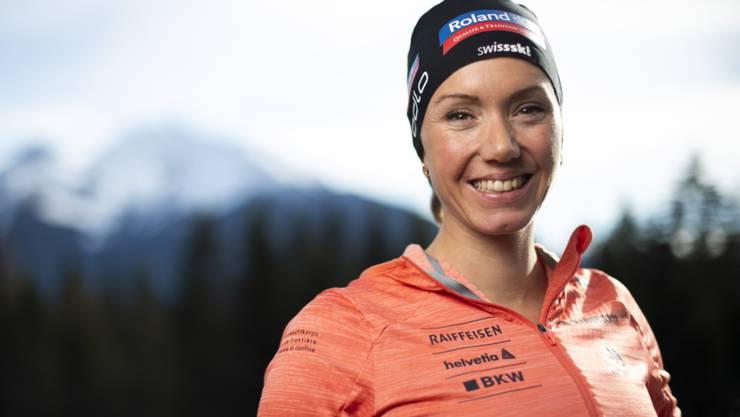 Fünf Monate nach der zweiten Babypause schon wieder sehr nahe an der Spitze: Selina Gasparin lief an der WM im Einzelwettkampf auf den 9. Platz