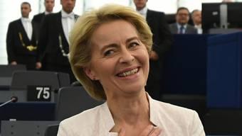 Ursula von der Leyern freut sich über ihre Wahl zur EU-Kommissionspräsidentin.