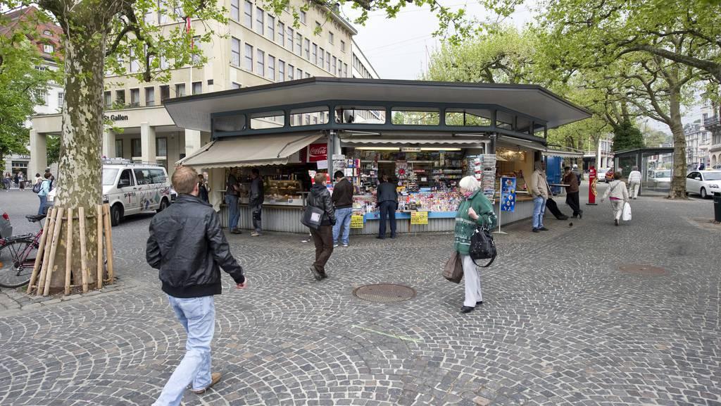 Die Bewohner von St.Gallen wünschen sich einen Marktplatz zum Verweilen, hier im Bild die Marktplatz-Rondelle. (Archiv)