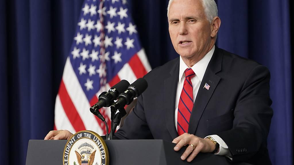 US-Vizepräsident Pence soll am Freitag geimpft werden