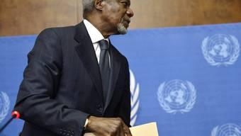 Kofi Annan will nicht mehr: Er erneuert sein Syrien-Mandat nicht