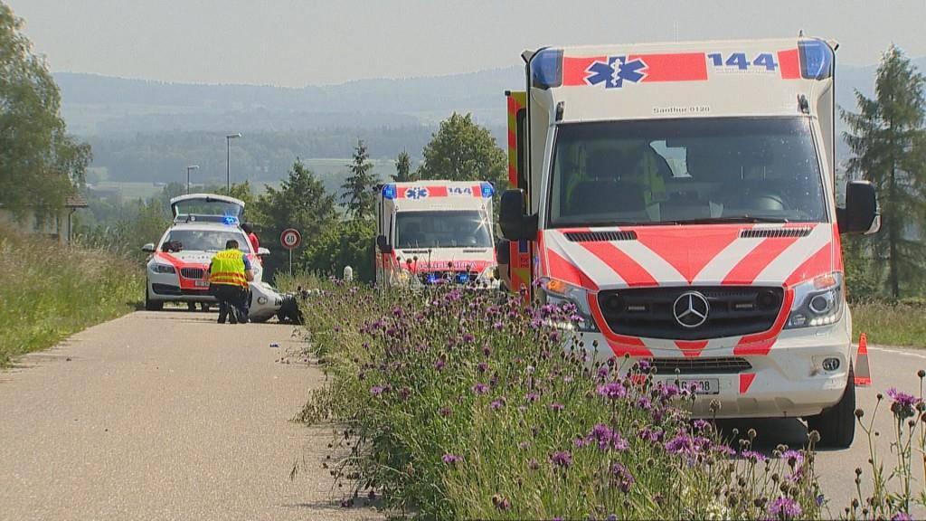 Töffunfall in Uesslingen (© BRK News)