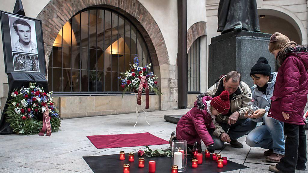 Tschechien erinnert an die Selbstverbrennung des Studenten Jan Palach vor 50 Jahren.