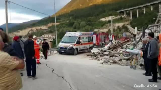 Tote und Verletzte bei Erdbeben in Italien