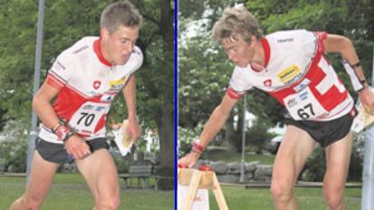 Matthias (links) und Andreas Kyburz beim Weltcup-Sprint diesen Frühling in Skandinavien.