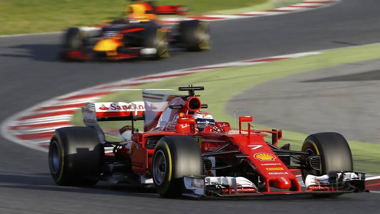 Räikkönens Ferrari überzeugt in Montmelo