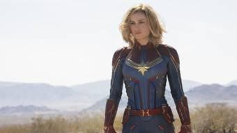 """Der Actionfilm """"Captain Marvel"""" mit Brie Larson in der Hauptrolle hat am Wochenende vom 7. bis 10. März 2019 die Schweizer Kinocharts souverän angeführt. (Archiv)"""