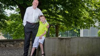 Zwei Mathematiker: Max mit seinem Vater. EMANUEL FREUDIGER