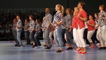 Bühnenvorführung des Solothurner Turnverbandes an der Gymnaestrada