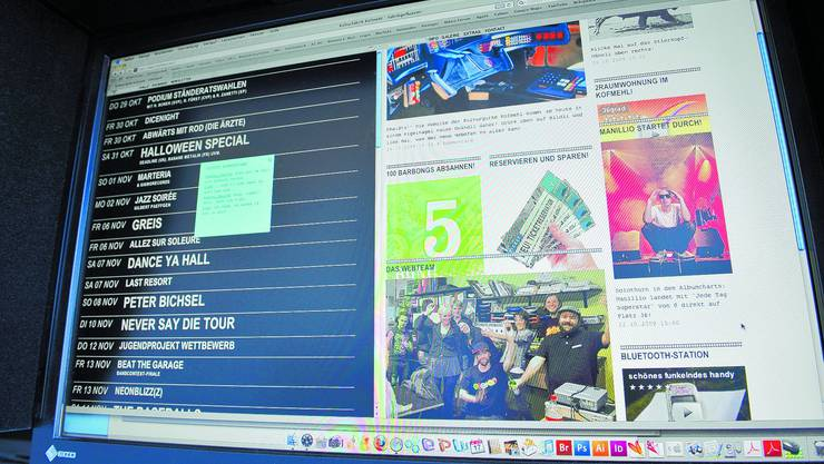 Die neue Homepage wurde nicht nur von Kofmehl-Besuchern mit Spannung erwartet, auch das Macher-Team drehte «dürum» vor Freude, wie sie online verlautbaren. (Oliver Menge)