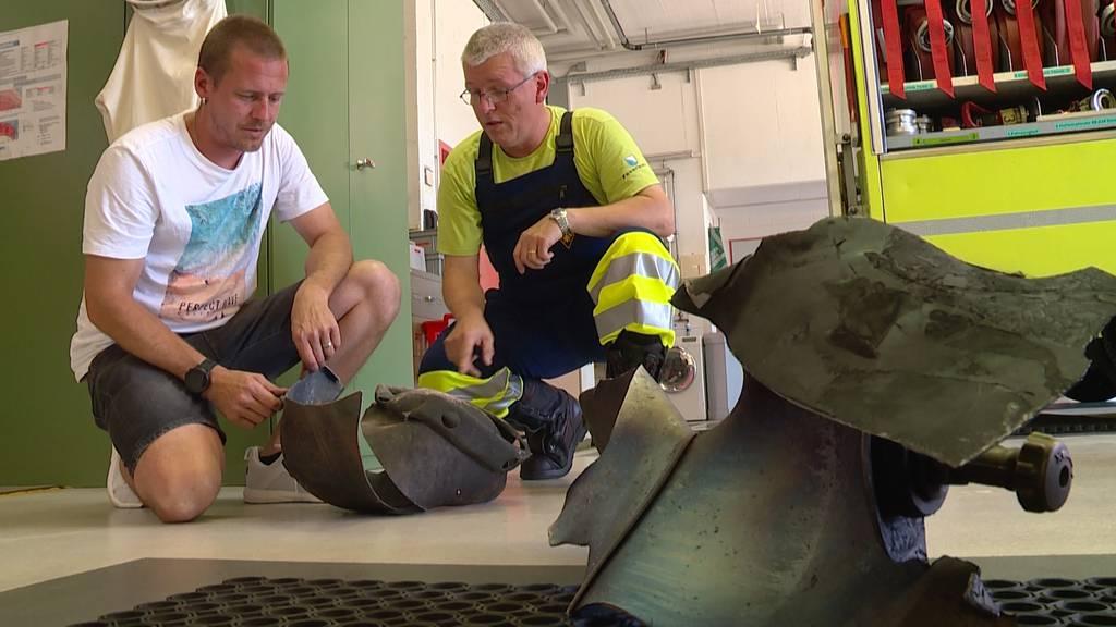 Brand in Dietlikon: Gasflaschen-Teile flogen durch die Luft