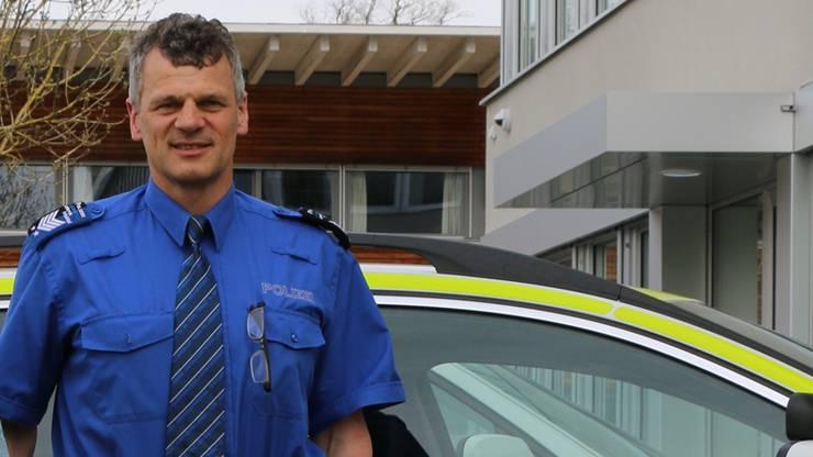 Hansueli Loosli, Leiter der Polizei Unteres Fricktal.