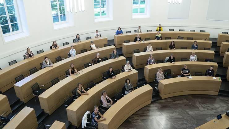 Die Frauenzentrale organisierte ein Treffen zum gemeinsamen Austausch von aktuellen Regierungs- und Grossrätinnen mit den aktuell Kandidierenden.