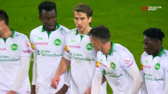 Super League: 20. Runde, FC Basel - FC St. Gallen, 91. Minute, Samuele Campos Tor zum 1:1