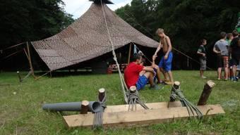 Jungwacht Hochdorf zu Gast im Fricktal in Zeihen