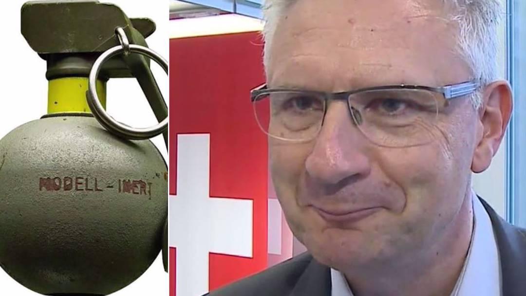 Terrorist mit Schweizer Handgranaten