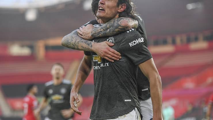 Edinson Cavani sorgte für den Sieg von Manchester United