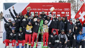 So sehen Sieger aus: Die Schweizer Skicrosser wollen an die erfolgreiche letzte Saison anknüpfen