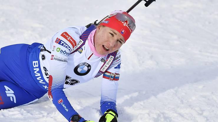 Mit letztem Einsatz zum WM-Titel: die Slowakin Anastasiya Kuzmina