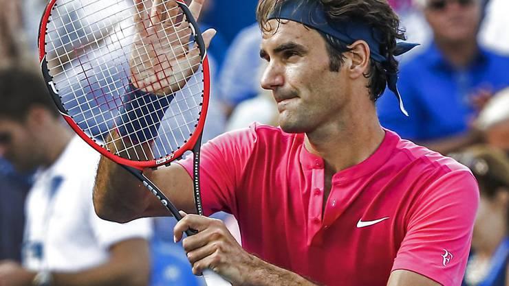 Steigt mit viel Selbstvertrauen in den Cincinnati-Final: Roger Federer