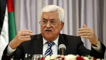 """Palästinenserpräsident Abbas: """"""""Wir strecken Israel unsere Hand entgegen, trotz aller Probleme."""""""
