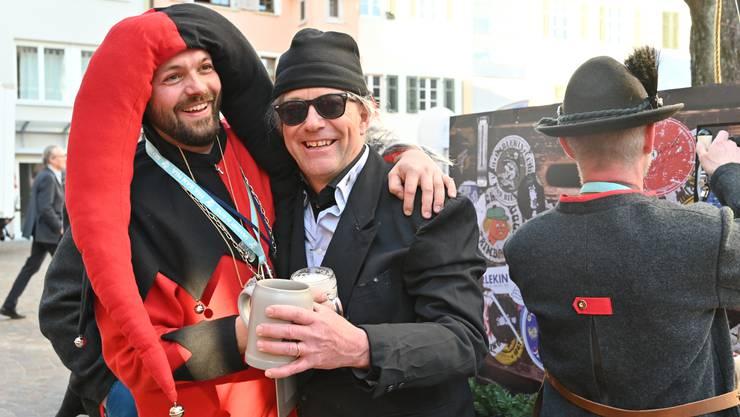 Oltner Fasnacht - Einkleidung und Schlüsselübergabe Olten 2019 mit Obernaar Reto dr Auerletscht, Fuko-Präsident Beat Loosli, Stadtpräsident Martin Wey, der Säli-Zunft zu Olten und vielen mehr.