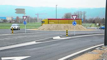 Vor rund zwei Wochen ist der 3,8 Millionen Franken teure Kreisel fertiggestellt worden.