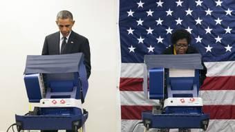 US-Präsident Obama bei der Stimmabgabe