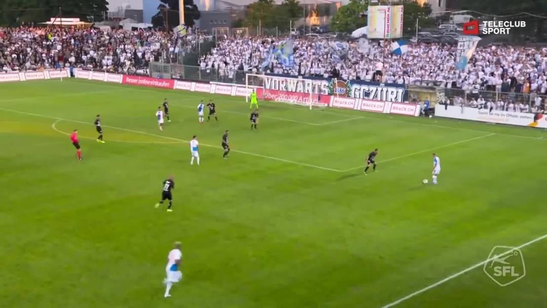 Challenge League, 2019/20, 3. Runde, FC Aarau – GC Zürich, 29. Minute: Schuss von Nassim Ben Khalifa.