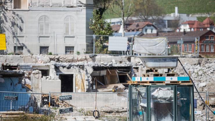 Aktueller Stand des Bäderquartiers vor dem Spatenstich des Botta-Bads in Baden. (10 Apri 2018)