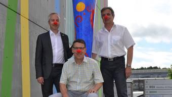 Markus Feil, Charly Mettier und Martin Ritter (v.l.): Gründer der Aktion «Roti Nase».