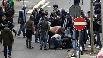 Hektische Situationen vor dem italienischen Cupfinal in Rom
