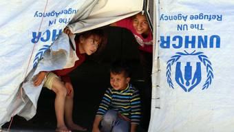 Syrische Flüchtlinge in einem Lager in Jordanien.