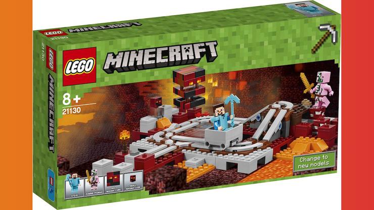 Wunsch-Nr. 25, Jamie, 6 Jahre, Lego Minecraft Nether Eisenbahn 21130, z.B. bei Digitec/Galaxus, CHF 48.50