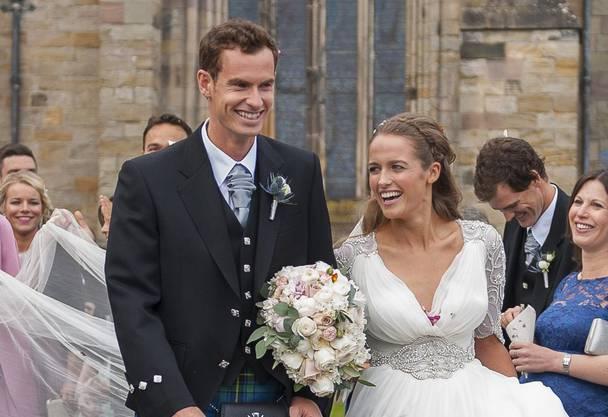 Erwarten bald ihr erstes Kind: Andy Murray und seine Gattin Kim Sears.