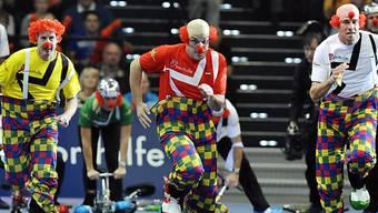 Spass und Klamauk beim Superzehnkampf im Zürcher Hallenstadion