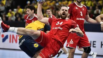 Kreisläufer Alex Milosevic hofft auf eine Steigerung der Schweizer