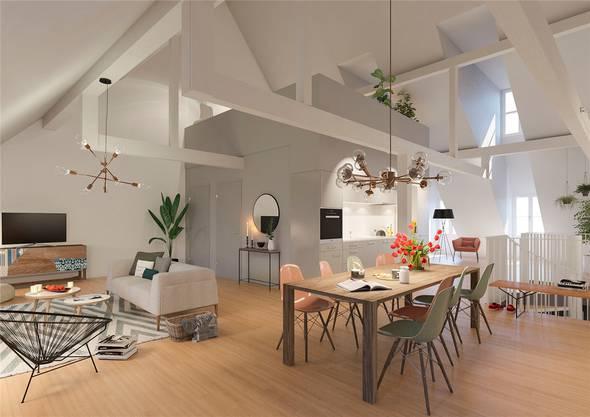 ...soll zu einer hellen, modernen Dachwohnung werden.